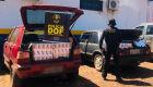 Veículos com 450 pacotes de cigarros contrabandeados são apreendidos