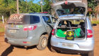 Polícia recupera veículo furtado com mais de 150kg de maconha com destino a Dourados