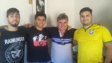 Paizão Geraldo e filhos Geovane, Leandro e Lucas. Te Amamos querido pai!