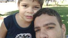 Pai Felipe juntos e filho  no Dia dos Pais!