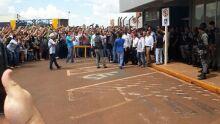 Chegada do Deputado Jair Bolsonaro no Aeroporto de Dourados