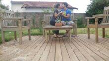 Moniki e Sebastião, que no próximo dia 28 completam cinco anos juntos