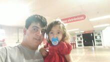 lara Sophia com seu pai Maicon Banhara