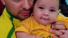 Papai Silvio Melgarejo com seu filho João Pedro