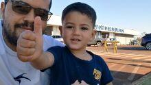 Papai Ronaldo e filhão Enzo Gabriel