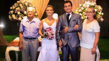 Marçal, Patrícia, Marçal Filho e Judith (pais dos noivo)