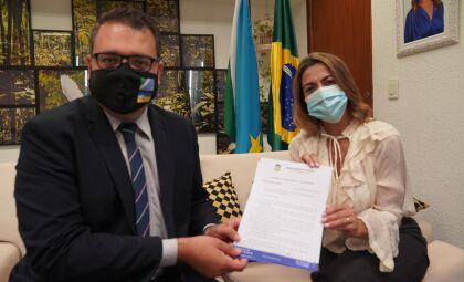 Senadora Soraya recebe prefeito eleito Alan Guedes e fecha parceria Dourados-Brasília