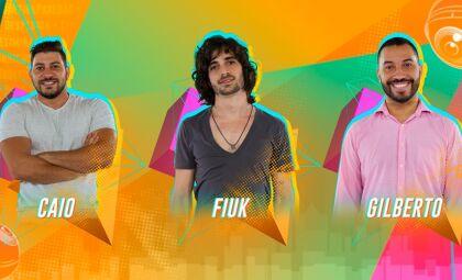 Caio, Fiuk e Gilberto disputam o 12º Paredão do BBB21