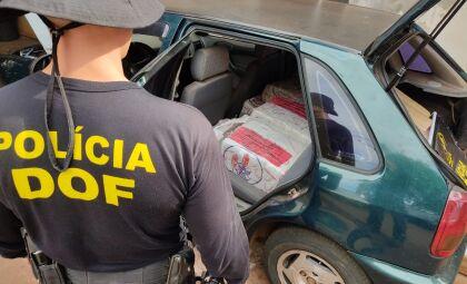 Polícia apreende veículo com mais de 200kg de maconha