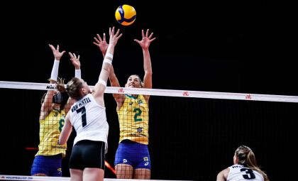Brasil bate Bélgica e sobe na tabela da Liga das Nações feminina de vôlei