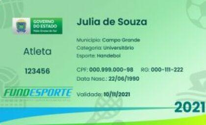 Aplicativo MS Digital libera Carteira de Identificação Desportiva