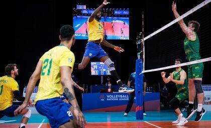 Liga das Nações: seleção brasileira de vôlei bate fácil Austrália