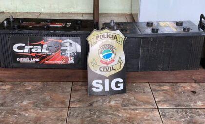 Suspeito de furtar baterias de caminhões é preso e polícia recupera material