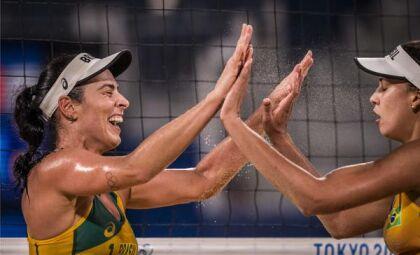Brasil já tem duas duplas classificadas no vôlei de praia