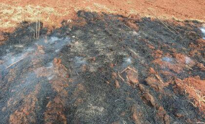 Idoso é autuado em mil reais por incêndio de vegetação em assentamento