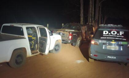 Após tentativa de fuga, três são presos com mais de duas toneladas de maconha