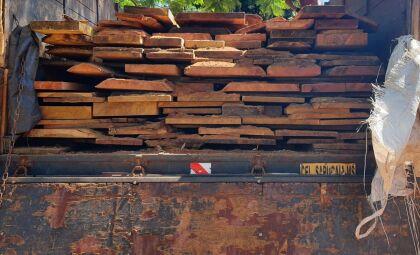 Empresa é autuada em quase R$ 6 mil por transporte de madeira ilegal