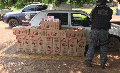 Após perseguição, homem é preso por contrabando de cigarros