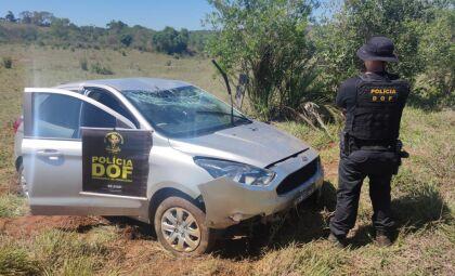 Carro furtado em Minas Gerais é recuperado na MS-295