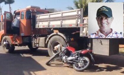 Motociclista tenta ultrapassagem, é atingido por caminhão e morre