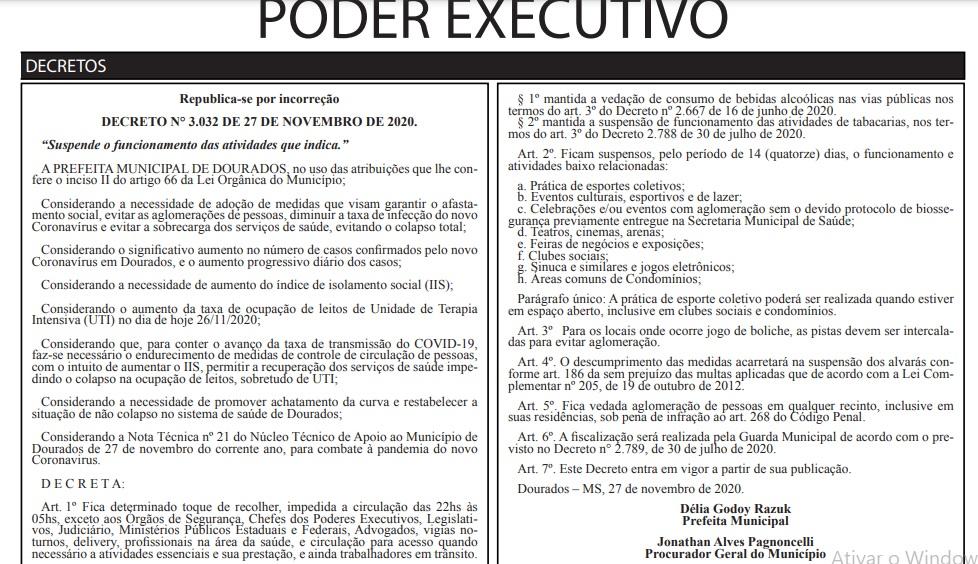 Decreto é republicado por incorreção, agora com brechas para esporte coletivo e boliche