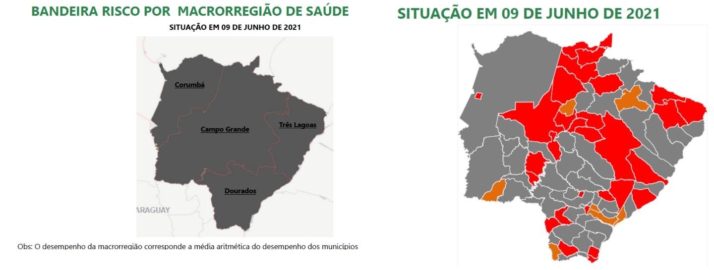 UTI's lotadas agravam classificações de risco do Prosseguir e Dourados retorna à bandeira cinza