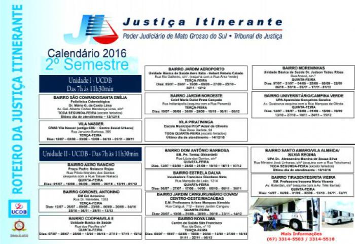 Justica Itinerante Calendario 2019 Campo Grande Ms.Tj Ms Divulga Calendario Da Justica Itinerante Para O 2º