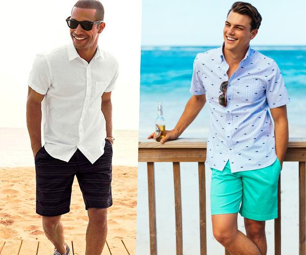 A moda praia masculina para 2018 2019 inclui várias tendências  bermuda  acima do joelho 9b957c8c2c473